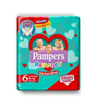 PAMPERS BABY DRY MUTANDINO SM TG6 EXTRA LARGE 14PZ 15+ KG